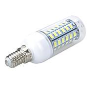 e14 5w 500-600lm 6500k / 3000k 56-5730 smd lämmin / viileä valkoinen valo johdettu maissi bulbi (AC 220 ~ 240v)
