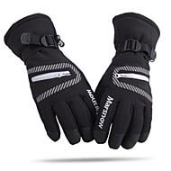 unisexe fashional thermique étanche à l'eau&coupe-vent gants de ski noirs