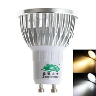 Spot Décorative Blanc Chaud/Blanc Froid Zweihnder S GU10 3 W 3 LED Haute Puissance 280 LM 3000-3500K / 6000-6500K K AC 85-265 V
