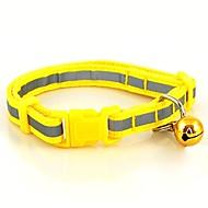 猫用品 / 犬用品 カラー 反射 / 調整可能/引き込み式 / 安全用具 レッド / グリーン / ブルー / ブラウン / ピンク / イエロー ナイロン