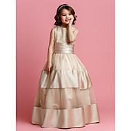 Ball Gown Floor-length Flower Girl Dress - Organza/Satin Sleeveless