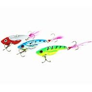 1 pcs Hard Bait / Metal Bait / Vibration/VIB / Fishing Lures Metal Bait / Hard Bait / Vibration/VIB Green / Red / Blue / Random Colors g/