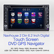 """Navihouse 6.2"""" 2 Din Car DVD Player with GPS、iPod、SWC、BT、CAM IN、GAME"""