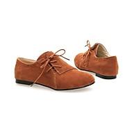Oxford-kengät - Tasapohja - Naisten kengät - Tekomokka - Musta / Ruskea / Beesi - Puku - Pyöreäkärkiset