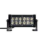 36W (12 * 3w cree) 2880lm 6500k 7inch bil ledet arbeidet lys bar flom lampe for off-road suv lastebil (dc9-32v)