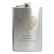 Personalized Gift 9oz Stainless Steel Hip Flask Heart