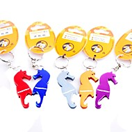 Seahorse Alloy Beer Bottle Opener Keychain Keyring (Random Color)