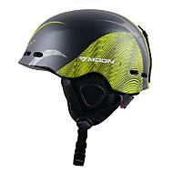 lune lignes automne hiver unisexe eps + pc noir + vert super léger casque de ski