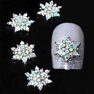 10шт 3d красочным горный хрусталь цветок DIY аксессуары сплава ногтей украшения