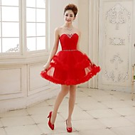 Cocktail Party Dress - Ruby Plus Sizes A-line/Princess Sweetheart Short/Mini Tulle