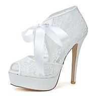 Dame - Pantofi de nunta - Tocuri / Decupați - Pantofi cu Toc - Nuntă / Party & Seară - Negru / Roz / Roșu / Fildeș / Alb