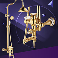 Shower Faucet Traditional Rain Shower / Handshower Included Brass Ti-PVD