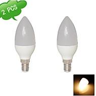 DUXLITE Luzes de LED em Vela E14 8W 720 LM 3000 K Branco Quente 15 SMD 2835 2 pçs AC 85-265 V C35