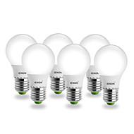 5W E26/E27 LED Globe Bulbs G60 SMD 400-450 lm Warm White AC 100-240 V 6 pcs