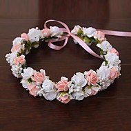 Women's Satin / Rubber Headpiece-Wedding / Special Occasion / Outdoor Flowers / Wreaths