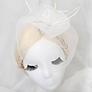 Women's/Flower Girl's Leather/Basketwork Headpiece - Wedding/Special Occasion Fascinators
