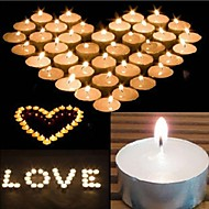 10PCS White Flameless Unscented Votive Candles Tealight Wedding Home Decor