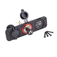 Dual Usb Adapter Charger Digital Voltmeter Sockets
