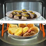 multifunkciós mikrohullámú sütő polc / tartó, műanyag 24,5 × 13 × 9 cm (9,7 × 5,2 × 3,6 inch)