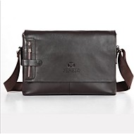 Men Other Leather Type Casual Shoulder Bag Brown / Black