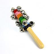 instrument de musique orff hochet en bois de cloche