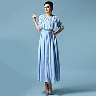 millésime mince élégante robe en mousseline de soie des femmes
