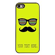 מקרה עיצוב מתכת מקרה שפם ומשקפיים מותאם אישית עבור 5 / אייפון 5s