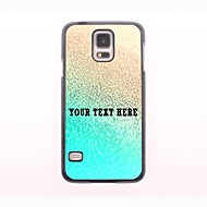 gepersonaliseerde telefoon case - gouden ontwerp metalen behuizing voor Samsung Galaxy S5 mini