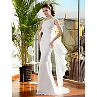 Lanting Bride® Trumpet / Mermaid Petite / Plus Sizes Wedding Dress Sweep / Brush Train Straps Chiffon with