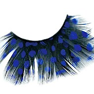 Royal Blue Polka Dots Feather Carnival Eyelashes