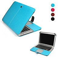 """צבע מוצק עור pu מקרה גוף מלא עבור ה- MacBook Air 13 """""""