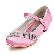 Girl's Heels Spring / Summer / Fall / Winter Heels / Comfort Satin Wedding / Party & Evening Chunky Heel Rhinestone Pink / Red / White