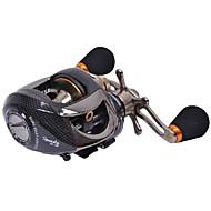 Tsurinoya 14 Bearings Baitcasting Fishing Reel  Two Brake Systems Left Hand Black Color