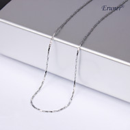 Unisex 1MM Silver Chain Necklace Jewelry for Men/Women