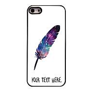 iPhone 5 / 5S用のパーソナライズされた場合の羽のデザインの金属ケース