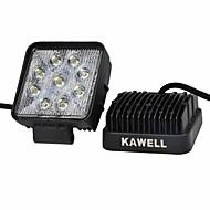 "ATV / SUV / 트럭 / 자동차 / ATVS / 낚시 도로를 구동 주도 kawell® 2PCS 4.2 ""27w 광장 얇은 유형은 홍수 작업 빛을 주도했다."