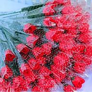 roos zeep bloem één stuk (willekeurige kleuren)