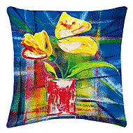 twopages® utmärkt blomma målning sammet dekorativa kuddöverdrag