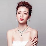 Women's Titanium Jewelry Set Rhinestone