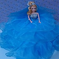 Marry Feary Blue Organza Prom Dress Beautiful Toy