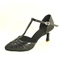 העקבים הגבוהים של נשים להתאמה אישית המודרניות נוצץ נעלי ריקוד נצנצים (צבעים נוספים)
