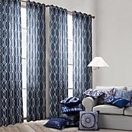 Ein Panel Window Treatment Modern Schlafzimmer Polyester Stoff Vorhänge drapiert Haus Dekoration For Fenster