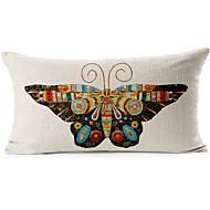 borboleta retângulo algodão / fronha decorativo linho impressa