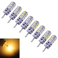 G4 1.5 W 24 SMD 3014 100-120 LM Warm White Dimmable Corn Bulbs DC 12 V