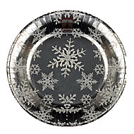 Snowflake Pattern Disposable Paper Plates 20Pcs/Bag