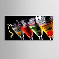 E-HOME® Stretched Canvas Art Wine Glass Decoration Painting