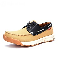 Men's Spring / Summer / Fall / Winter Boat Suede Casual Flat Heel Lace-up Blue / Yellow Sneaker