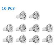 6W GU10 LED-kohdevalaisimet 4 Teho-LED 330 lm Lämmin valkoinen / Kylmä valkoinen AC 85-265 V 10 kpl