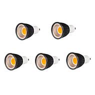 5pcs 7W GU10 500-550lm fraîche blanc chaud dimmable / de soutien de couleur conduit ampoule spot de torchis (220v)