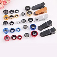 5 in 1 Wide Angle + Macro + 2X teleconverter + polarizer Kit Fisheye Mobile Phone Lens